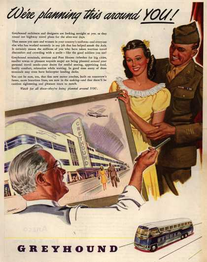 Greyhound – We're planning this around YOU (1945)