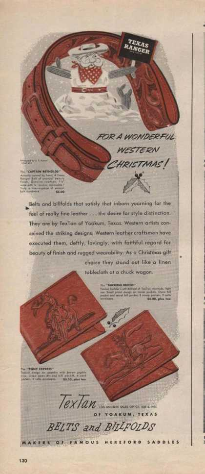 Tex Tan Belts and Billfolds (1946)