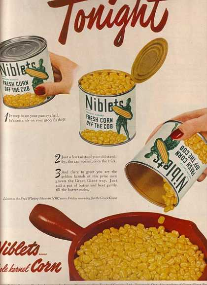 Green Giant's Niblets Whole Kernal Corn (1949)