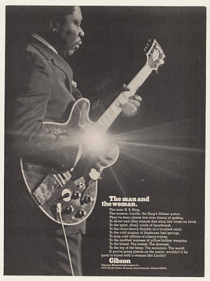 B.B. King Gibson Guitar Lucille Photo (1971)