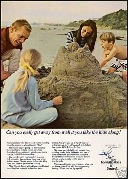Beach Sand Castle United Airlines (1968)