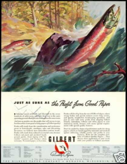 Salmon Spawning River Art Gilbert Papers (1940)
