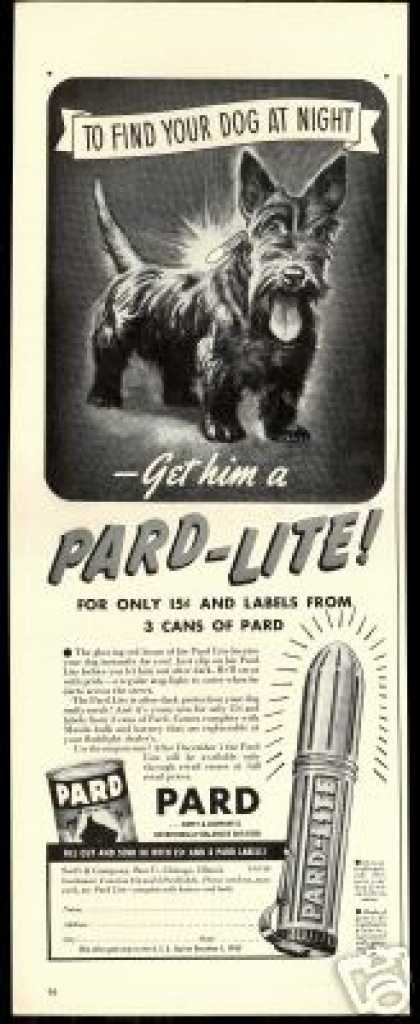 Scottish Terrier Dog Art Pard Lite Offer (1940)