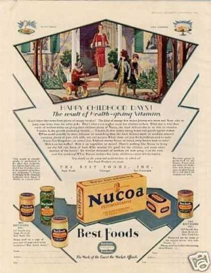 Best Foods Color Ad Nucoa Oleomargerine (1928)