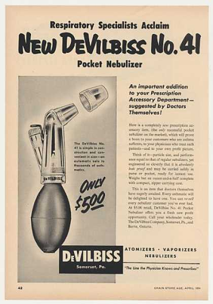 DeVilbiss No 41 Pocket Nebulizer (1954)