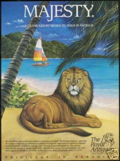 Antigua Royal Antiguan Resort Lion Art (1987)