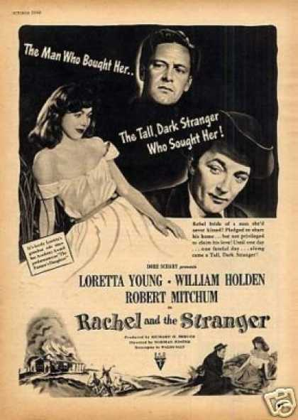 "Movie Ad ""Rachel and the Stranger"" Loretta Young (1948)"