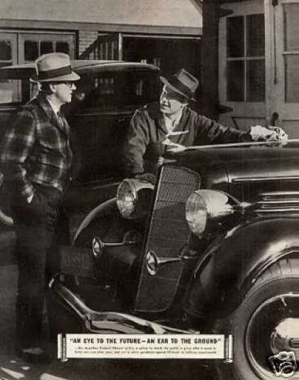 General Motors Ad 2 Page (1935)