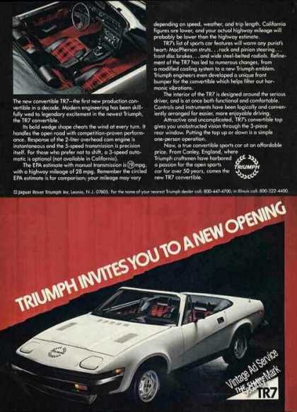 New Triumph Convertible Tr7 Nice Car (1980)