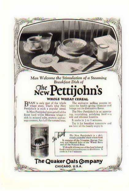 Quaker Qats – Pettijohn's Whole Wheat Cereal (1925)