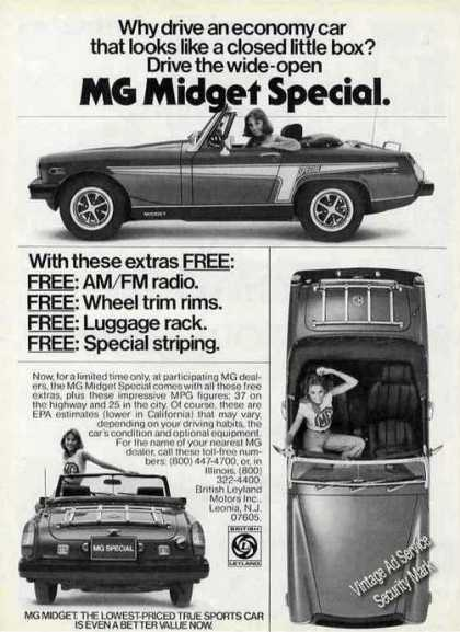 Mg Midget Special Photos Collectible Car (1976)