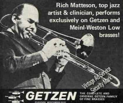 Rich Matteson Photo Getzen Trombone (1975)