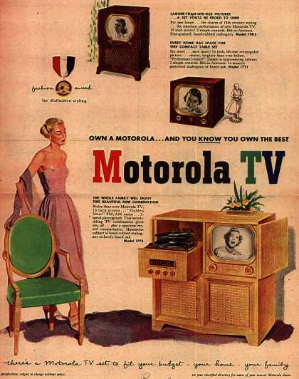 Motorola's Television – Own A Motorola... And You Know You Own The Best, Motorola TV (1950)