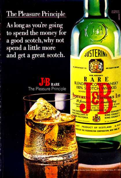 J&b Scotch Whisky Bottle (1972)