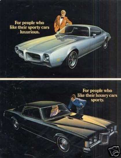 Pontiac Grand Prix & Firebird Car Ad 2 Page (1970)