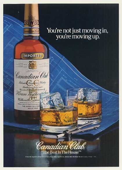 Canadian Club Whisky House Blueprint Moving Up (1982)