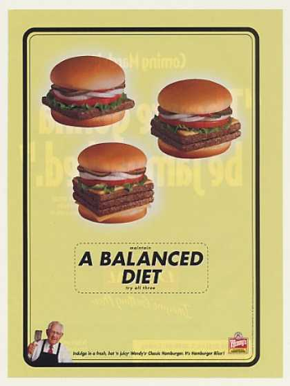 Wendy's Hamburger A Balanced Diet Restaurant (2000)