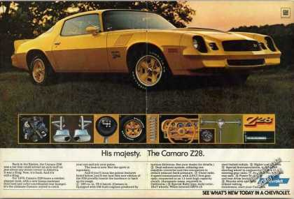"Chevrolet Yellow Camaro Z28 ""His Majesty"" (1978)"