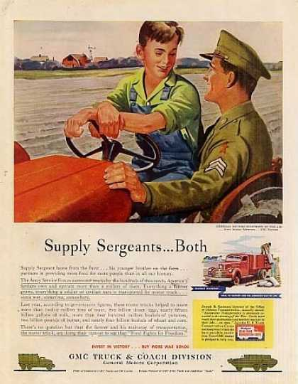 "Gmc Truck Ad ""Supply Sergeants... (1944)"