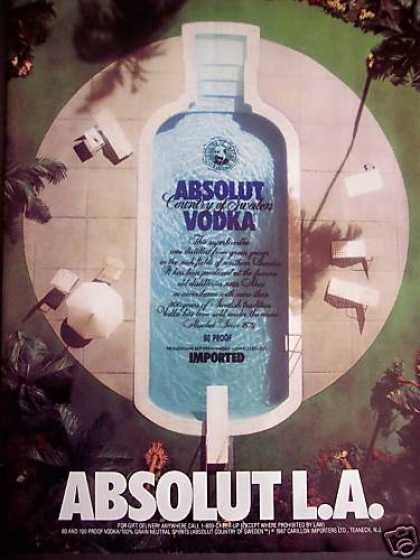 Bottle Shaped Pool Photo Absolut Vodka (1989)