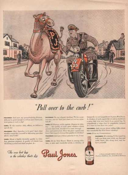 Pull Over To the Curb Paul Jones Whiskey A (1942)