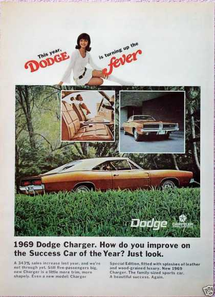 Dodge Charger Improve On Success Car Of The Year (1969)