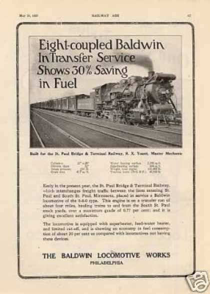 Baldwin Ad St. Paul Bridge & Terminal 0-8-0 #18 (1927)
