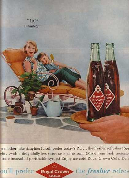 Royal Crown Cola's Fresher Refresher Soft Drink (1959)