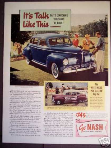 Blue Two-tone Nash Deluxe Trunk-back Car Photo (1941)