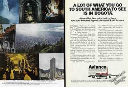 Tequendama Falls & Other Bogota Photos Avianca (1973)