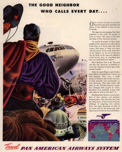 Pan American Airways System – The Good Neighbor Who Calls Every Day (1941)
