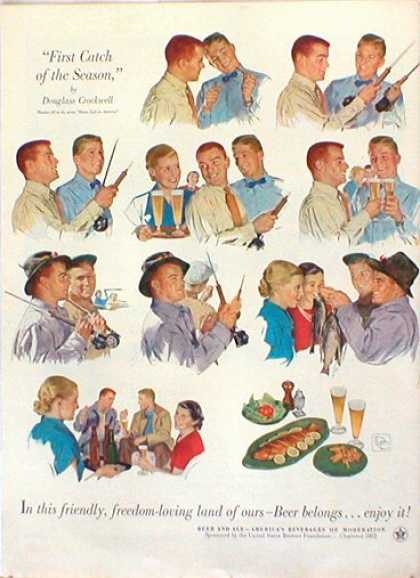 Beer Belongs Douglass Crockwell Fly Fishing (1953)