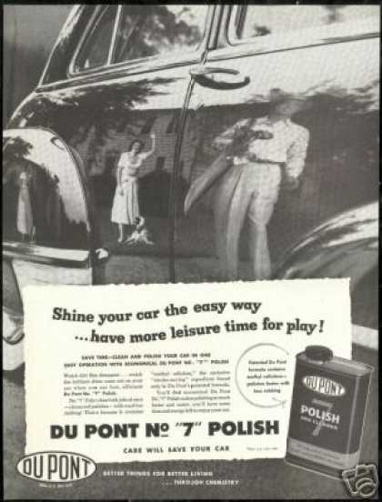 Dupont Car Polish Vintage Du-pont Golfer Photo (1952)