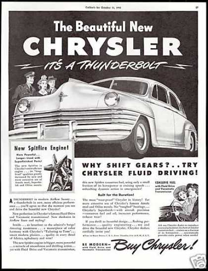 Chrysler Car New Sleekness Vintage (1942)