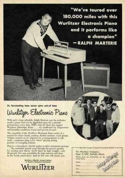 Ralph Merterie Photo Wurlitzer Electronic Piano (1957)
