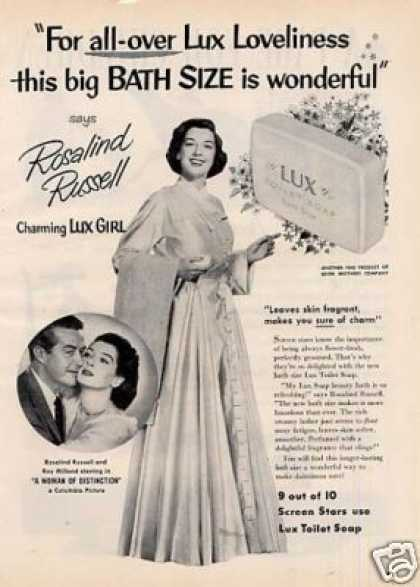 Lux Soap Ad Rosalind Russell (1950)