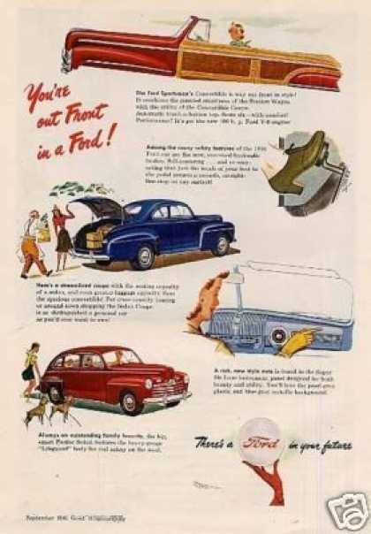 "Ford Car Ad ""You're Out Front... (1946)"