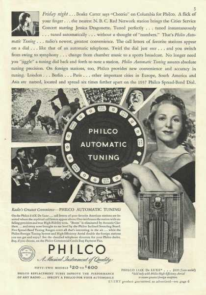 Philco Automatic Tuning De Luxe Radio (1936)