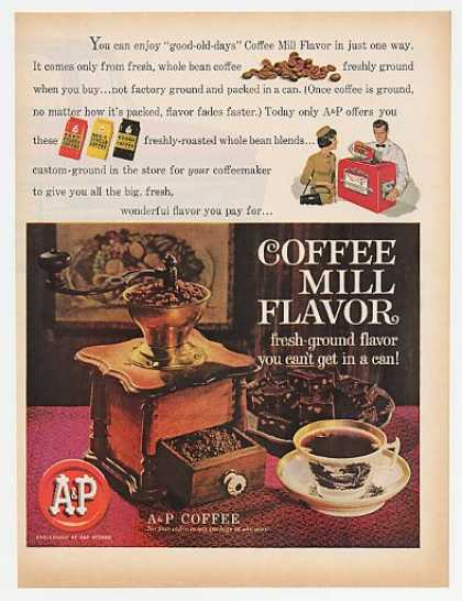 A&P Coffee Mill Flavor Fresh Ground Coffee (1961)