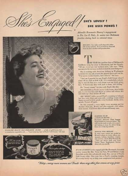Ponds Cold Cream for Women (1943)