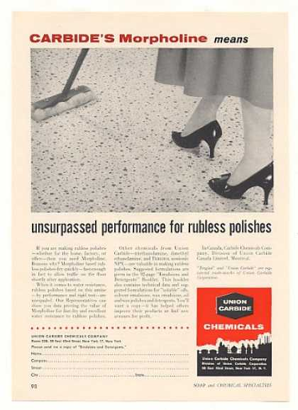 Union Carbide Chemical Morpholine Polish Trade (1958)