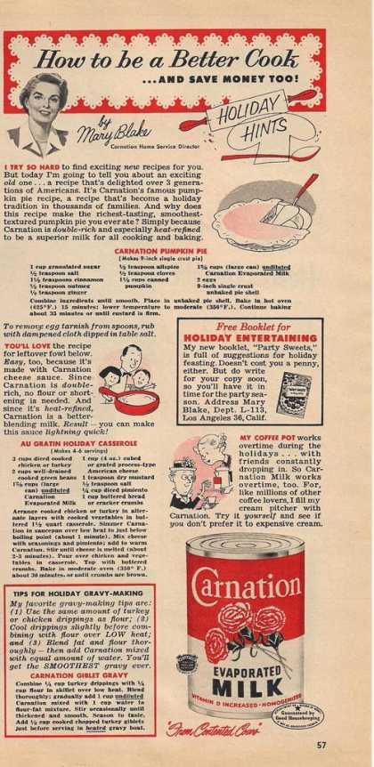 Carnation Evaporated Milk (1953)
