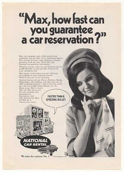 National Car Rental Girl Max Computer (1970)