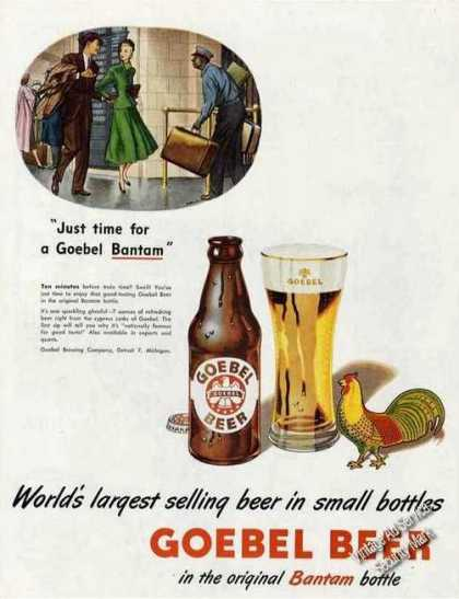 Goebel Beer In the Original Bantam Bottle (1948)