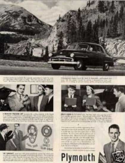Plymouth Car Ad 2 Page (1951)