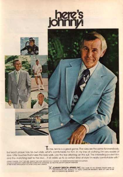 Johnny Carson Apparel&#8217;s Johnny Carson (1975)