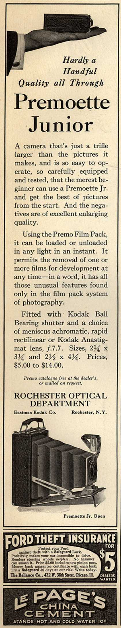 Kodak's Premoette Jr. cameras – Hardly a Handful. Quality all Through (1917)