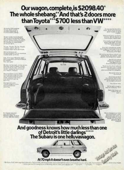 Subaru Station Wagon One Helluvawagon (1971)