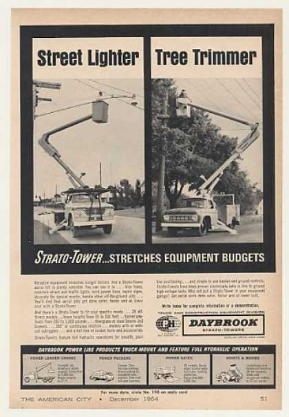 Daybrook Strato-Tower Aerial Lift Photo (1964)