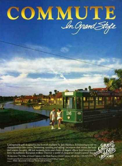 Grand Cypress Resort Orlando Fl Trolleys (1987)